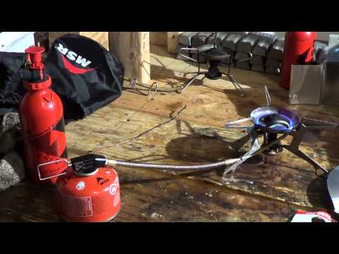 MSR WhisperLite Universal Stove - part 5 - using the wrong jets