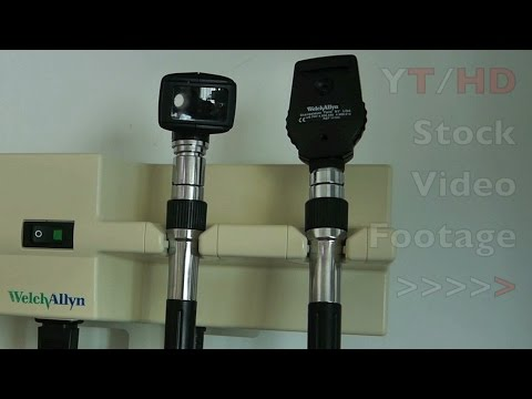 Hospital Medical Equipment Like Welch Allyn Otoscope to Heart Rate Monitor | HD Stock Video Footage