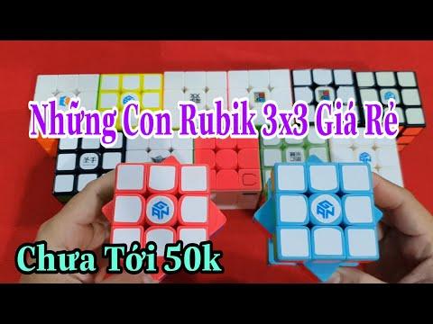 Những Con Rubik 3x3 Giá Rẻ Chưa Tới 50k ( Cube Rubik )