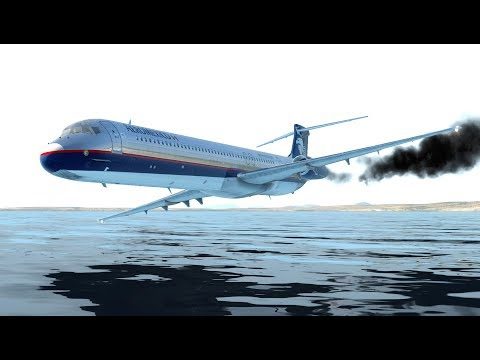 Giant Airplane Emergency Landing On Water With The Fired Engines | X-Plane 11