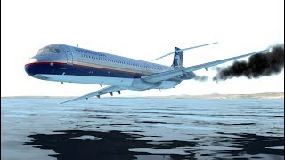 giant-airplane-emergency-landing-on-water-with-the-fired-engines-x-plane-11