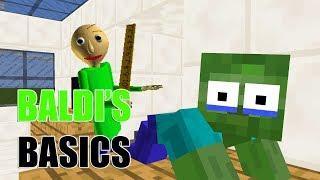 Monster School : BALDI'S BASIC CHALLENGE PART 2 - Minecraft Animation