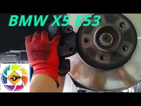 Замена передних тормозных колодок BMW X5 E53 4.4l