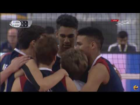Egypt vs USA | 22 August 2017 FIVB Volleyball U19 Boy's Championship