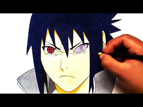 how to draw sasuke mangekyou sharingan step by step