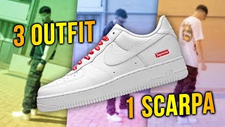 3 OUTFIT 1 SCARPA AIR FORCE 1 SUPREME *3 ANNI DOPO*