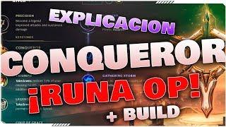 EXPLICACION RUNA CONQUEROR Y BUILD RIVEN   SEASON 8  