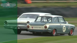 Ford Galaxie and Cortina in David v Goliath battle at Revival