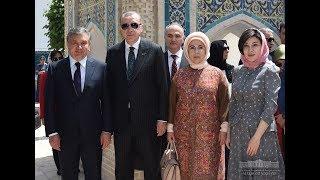 Шавкат Мирзиёев Туркия президенти билан Баҳоуддин Нақшбандий мақбарасини зиёрат қилдилар