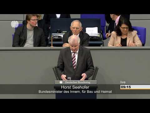 Bundestag: Regierungserklärung zur Innen-, Bau- u. Heimatpolitik