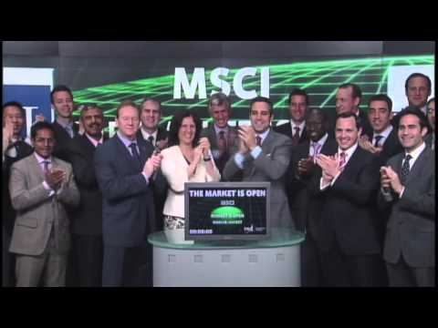 MSCI Inc. opens Toronto Stock Exchange, June 20, 2013.