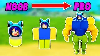 GOING FROM NOOB TO PRO IN ROBLOX NOOB SIMULATOR!