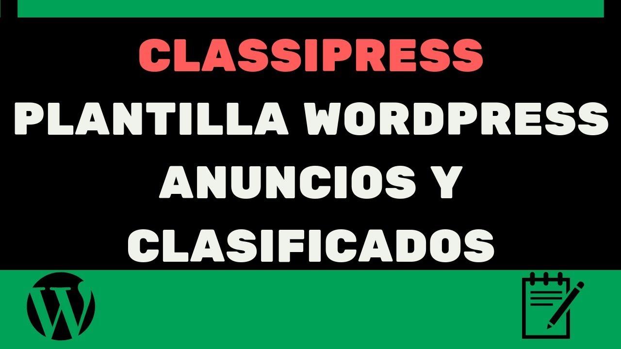 Classipress Plantilla Para Anuncios Y Clasificados Wordpress