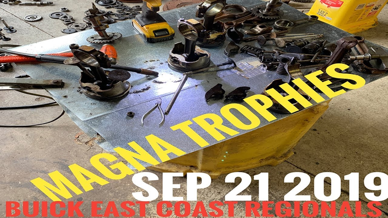 Making trophies for the MAGNA East Coast Buick Regionals Car Show