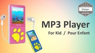 wiwoo b4 mini lecteur mp3 musicfun pour enfant