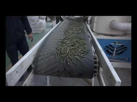 wood fuel pellet machine running / biomass pellet machine