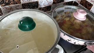 Anne Usulü Iftar Menüsü (Nohutlu Yoğurt Çorbası,Yesil  Kabak,Bulgur Pilavı)