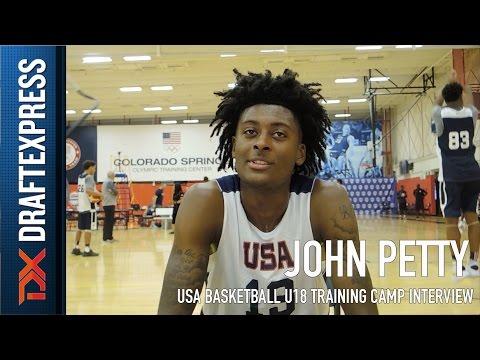 John Petty USA Basketball U18 Training Camp Interview