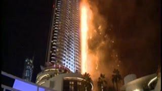 Fire beaks out at Address Downtown hotel Dubai