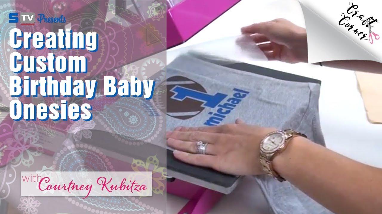 cf0adb008 Creating Custom Birthday Baby Onesies with Silhouette Cameo | Craft Corner