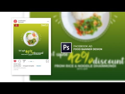 Social Media Ad - Food Banner Design in Adobe Photoshop CC 2019