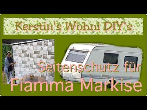 Seitenschutz für FIAMMA Markise   Wohnwagen DIY   Nähen mit Wachstuch   Kerstin's Wohni DIY's