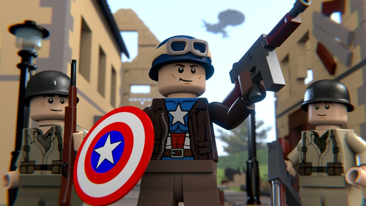 Lego wwii captain america youtube - Lego capitaine america ...