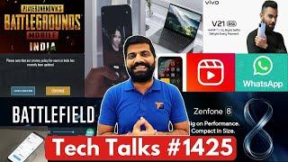 Teknik Konuşmalar # 1425 - PUBG Gizlilik Güncellemesi, V21 5G Hindistan, Zenfone 8, iQOO 7 Fiyatı, iOS 15 Özellikleri, Makara