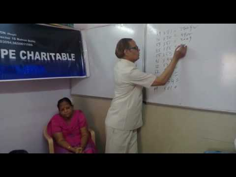 Hope charitable...Free foundation  course in maths