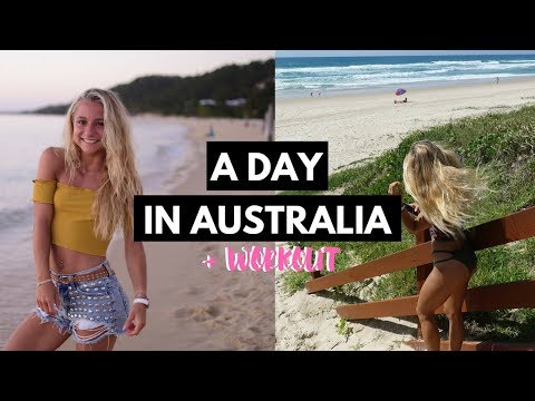 Typical day in Australia + Back Workout | Early morning beach walk, gym, aldi,..