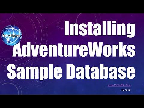Installing AdventureWorks Sample Database   My Tec Bits