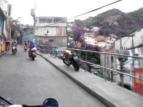 Motor Taxi ride up Vidigal Favela in Rio de Janeiro