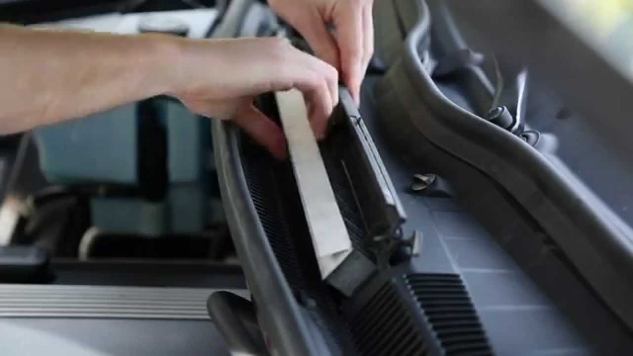Service manual how to change cabin filter 2002 bmw m for Change cabin air filter