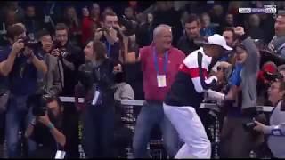 ENORME Noah fait le show après la victoire de la France en Coupe Davis