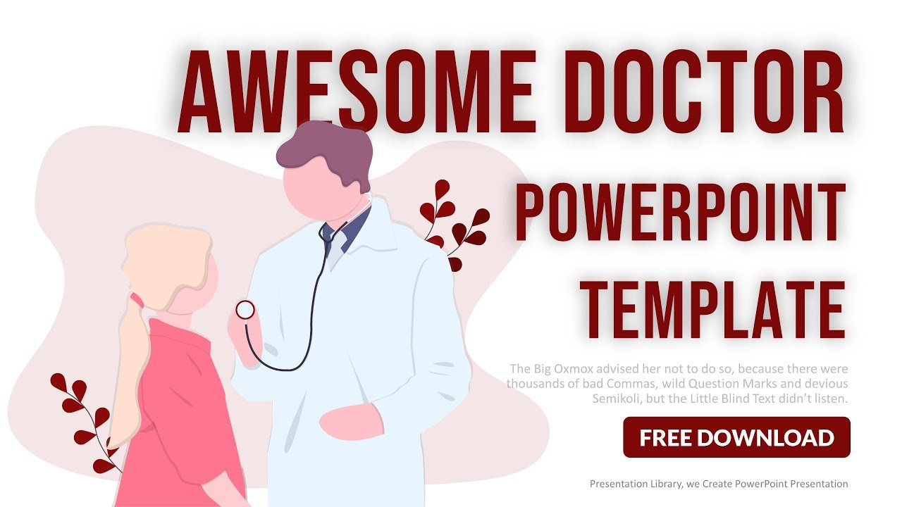 Medical Powerpoint Template Free Download Youtube