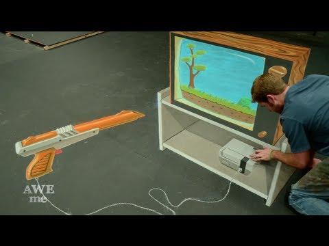 Duck Hunt 3D Chalk Art - AWE me Artist Series