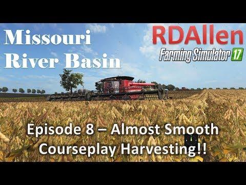 Farming Simulator 17 River Basin E8 - Smooth Courseplay Harvesting!
