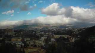 Уникальный климат Кисловодска в time-lapse видео(2013-03-24 вид на Кисловодск веб-камера установлена на крыше санатория