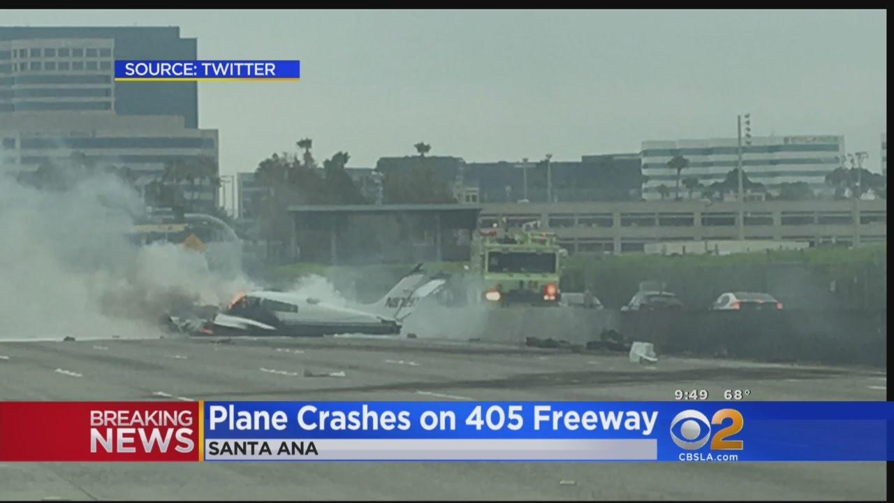 Plane Crashes On NB 405 Freeway In Irvine