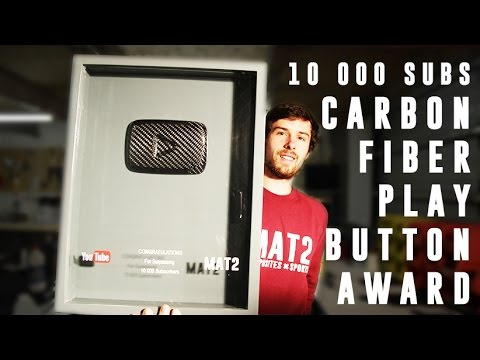 10K Carbon Fiber YouTube Play Award Button - PART 1 (how it's made)