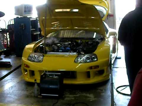 d26dc242e0d9 Colletti Motorsports MK4 Yellow Supra Dyno - YouTube