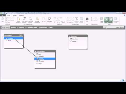 Excel 2013 PowerPivot Basics #05: Import External Excel Tables, Build Data Model with SUMX function