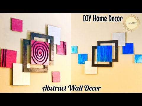 DIY Unique Wall Hanging |  Abstract wall hanging | wall hanging craft ideas | diy wall decor