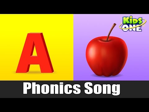 A For Apple | Phonics Song with Two Words | Learning ABC Alphabet Songs For Kids - KidsOne