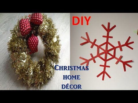 diy home decor for christmas | diy christmas wreath | wall decor | best out of waste |diy snowflakes