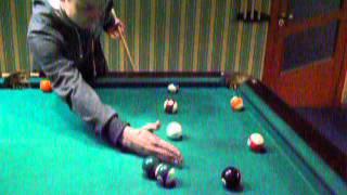 6мин,Урок игры на  бильярде