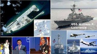 挑戰新聞軍事精華版--美軍艦無預警駛入「永暑礁」12海哩,挑戰中國南海主權 ?