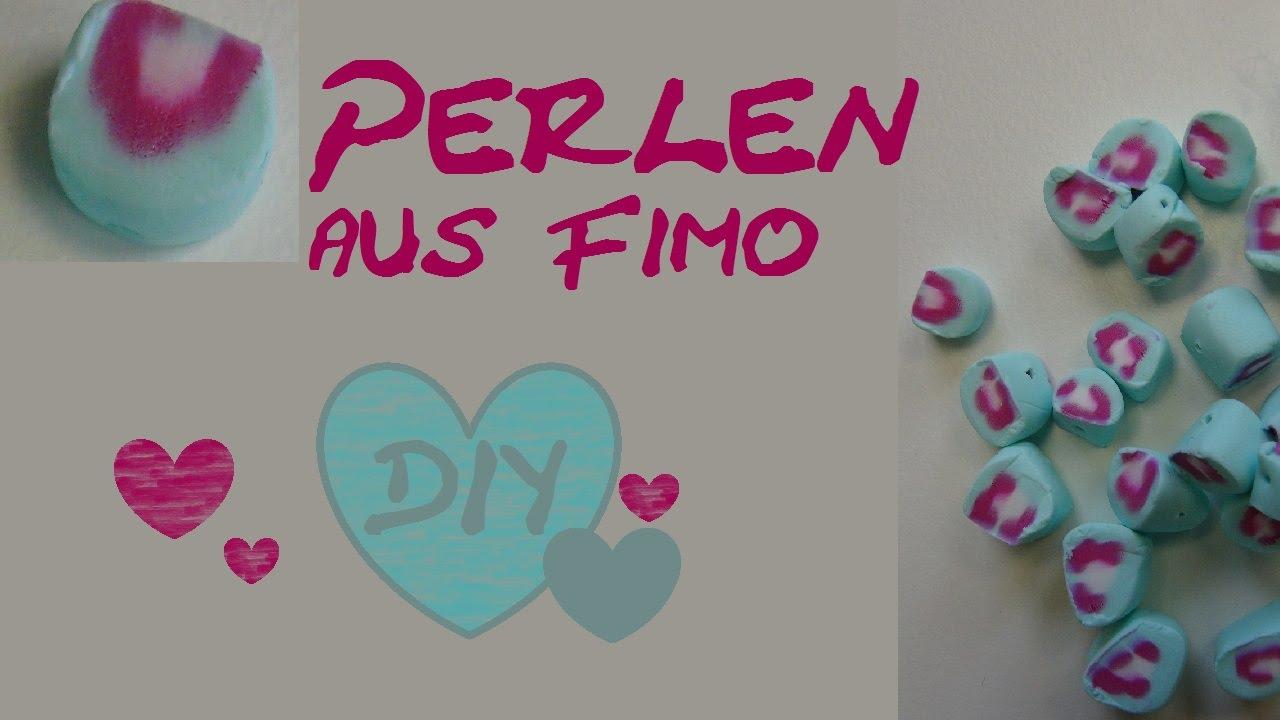 Schmuck basteln fimo  DIY Fimo Perlen mit schönem Muster/ Anleitung (Fimo von Aniela ...