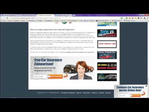 Car Insurance Quotes Compared Online   Progressive Vs State Farm