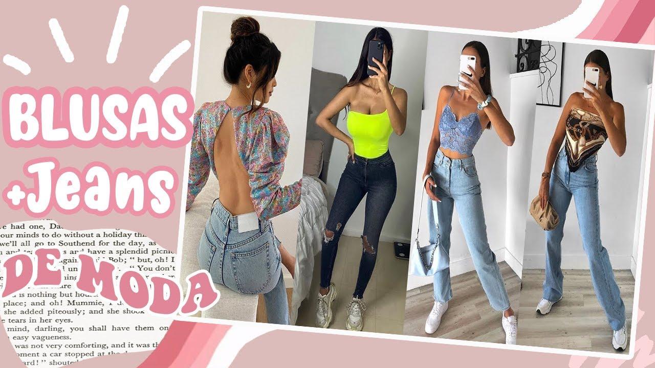 Outfits Con Blusas De Moda Y Jeans 2020 Tendencias Primavera Verano Mujer Juvenil Casual Fashion Youtube